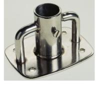 RVS 316 scepterpotten –  rechthoekige dekplaat verzwaard